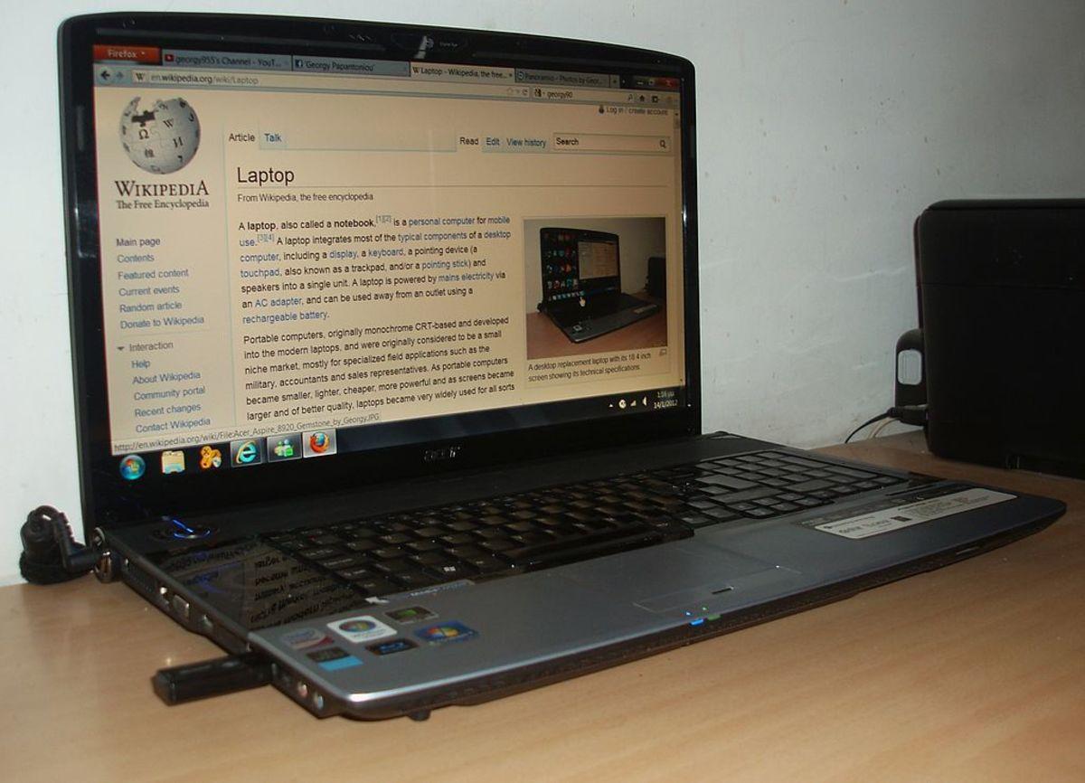 Acer Aspire laptop computer