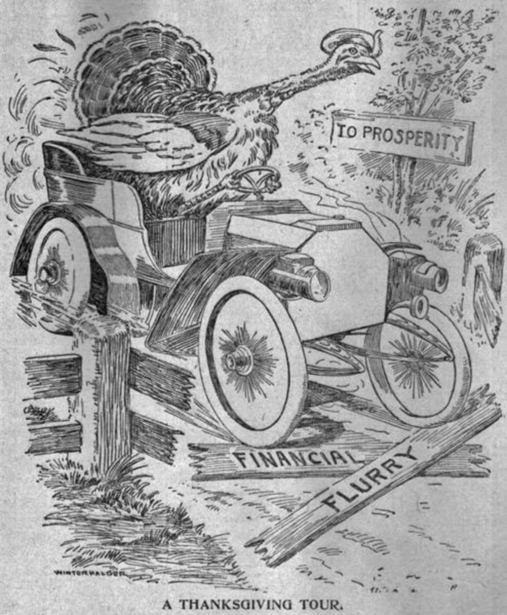 An old Thanksgiving cartoon from the public domain.