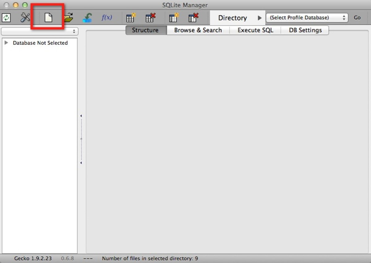 Figure 1: SQLite Manager in Firefox