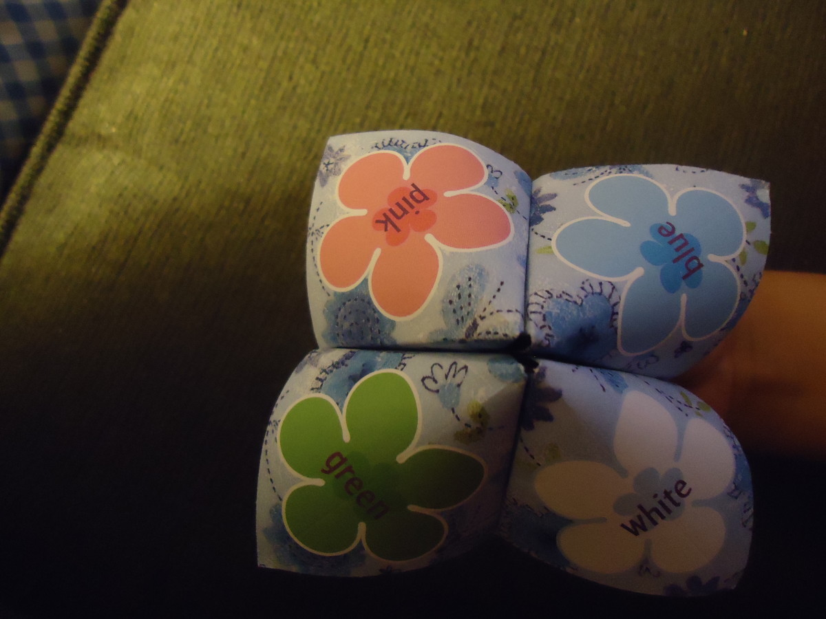 Make A Fortune Teller--A Fun and Cheap Activity for Children