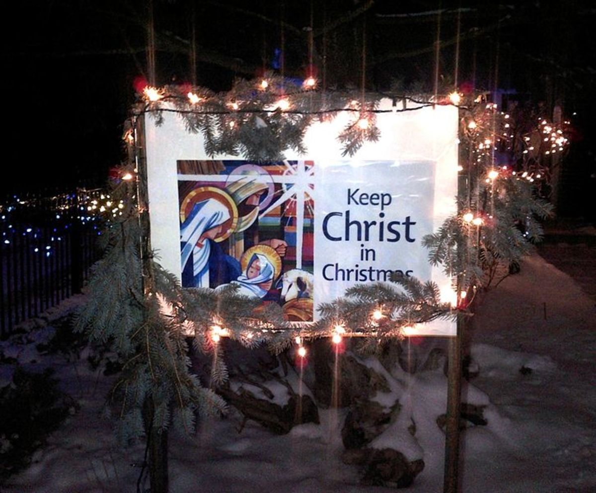 """Keep Christ in Christmas"" Front Lawn Poster"