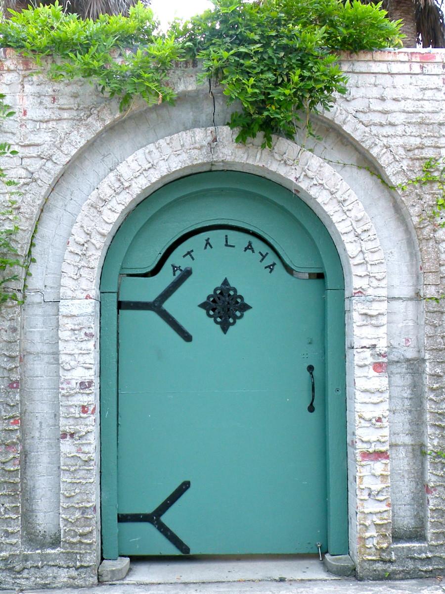 This is the doorway to Atalaya, designed by Anna Hyatt Huntington.