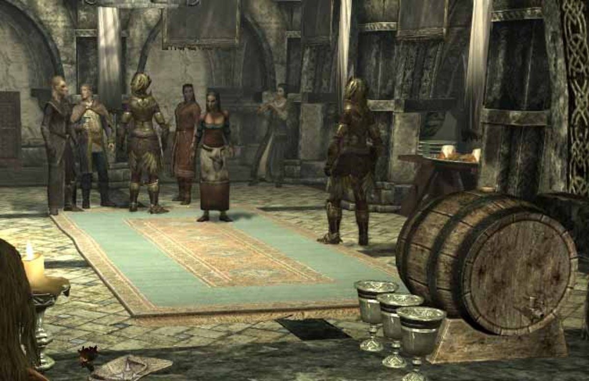 Skyrim Thalmor Embassy Party Distraction Using Brela and Erikur