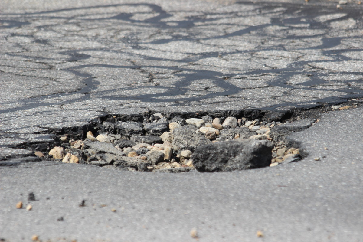 A pothole may affect your tire's balance or its alignment