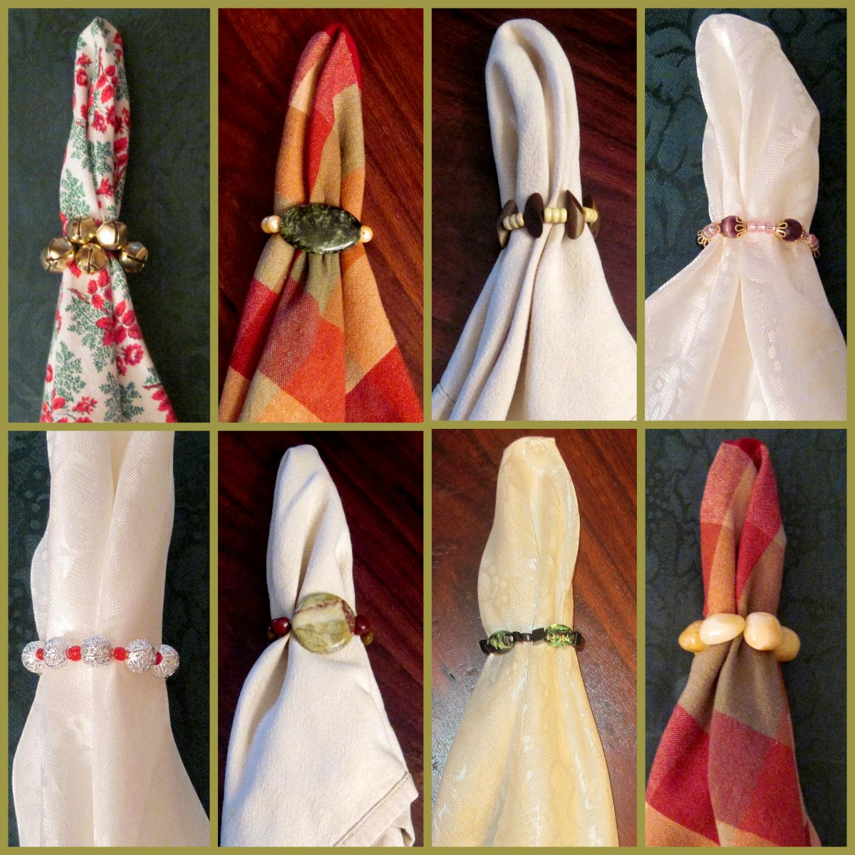 How to make napkin rings step by step instructions