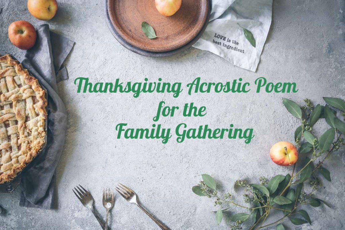 Thanksgiving Acrostic Poem for the Family Gathering