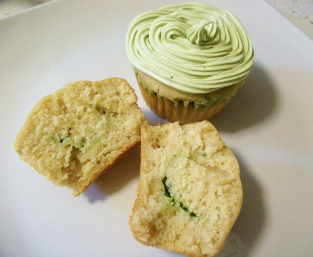 Vegetable Dessert Recipe - Spinach Cupcake Recipe with Pictures