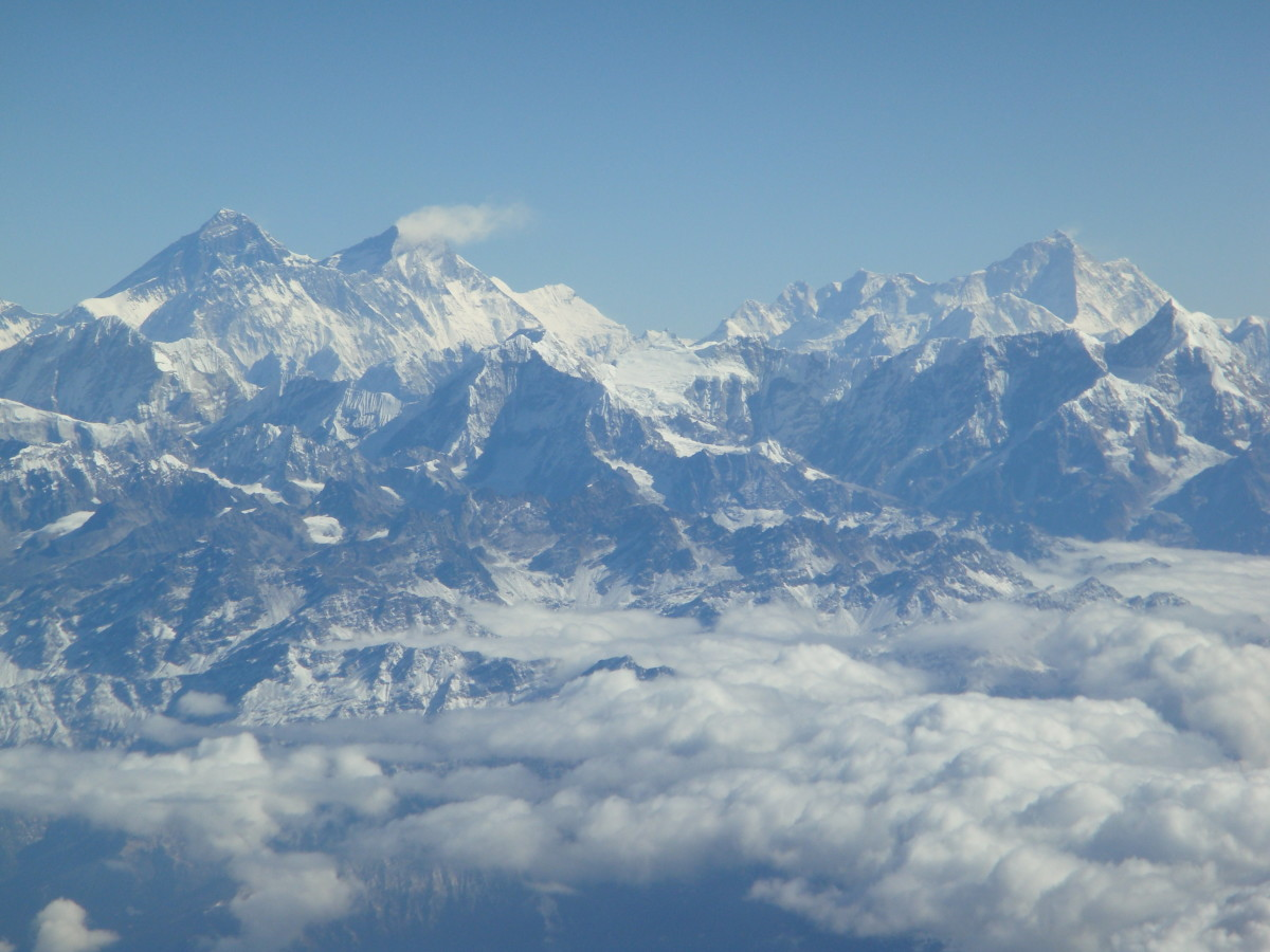 Everest, on a previous fly-over