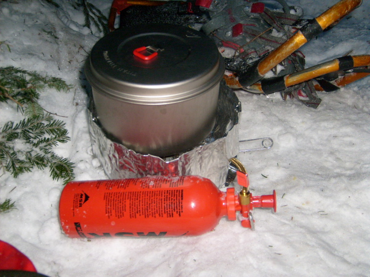 Bring plenty of fuel for melting snow.
