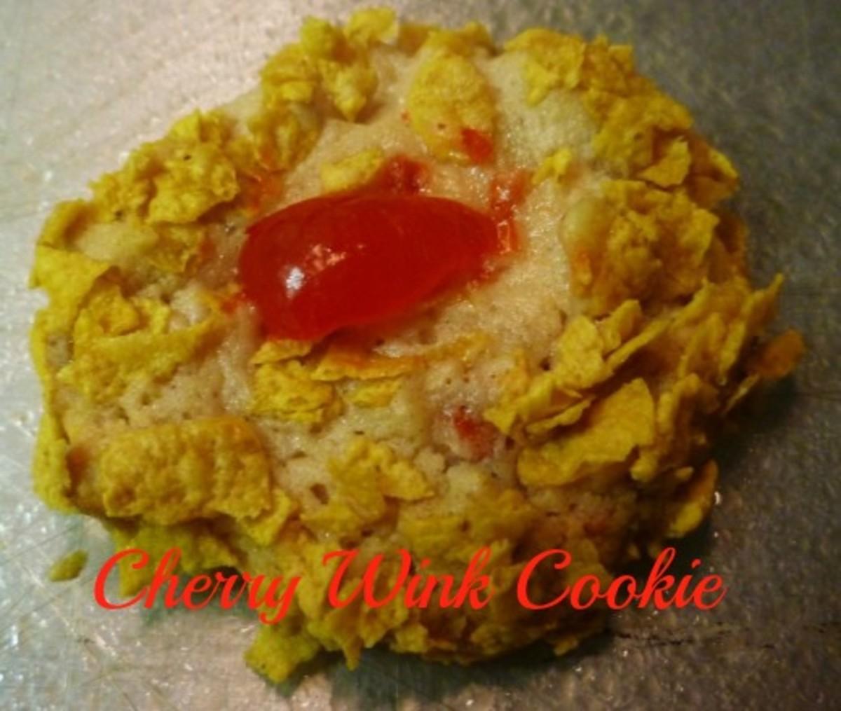Homemade Cherry Wink Cookie