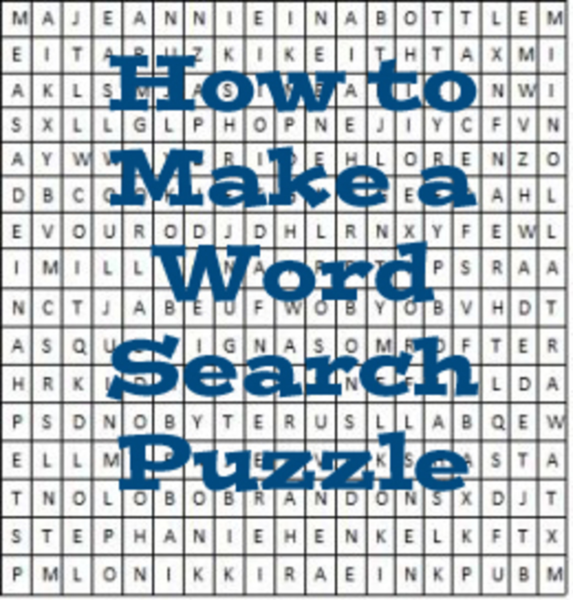 Create your own word search puzzle, using words that you choose. It's easy!