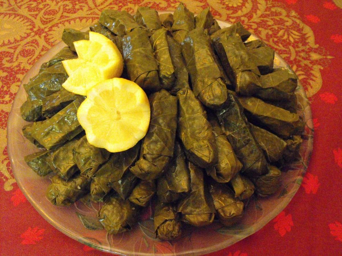 Armenian Stuffed Grapeleaves - A Vegan Appetizer