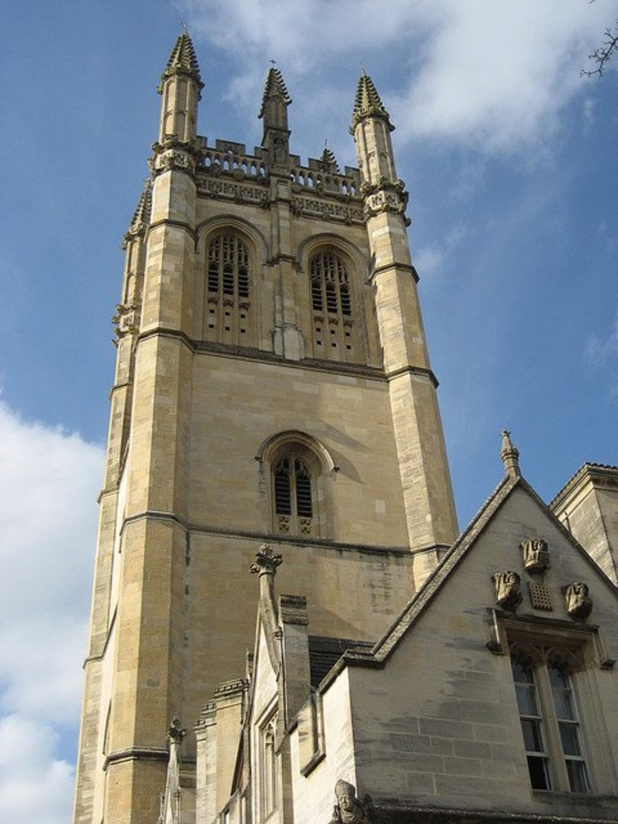 One of the Oxford traditions is climbing the Magdalen Tower on May Day. (I suspect that's the origin of my Bryn Mawr College's tradition of climbing Rockefeller Arch to sing the Magdalen Hymn to the Sun on May Day.)