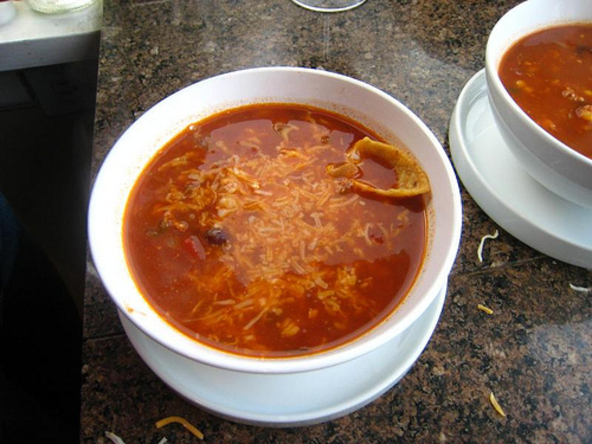 A yummy bowl of taco soup! While this photo is a nice representation, I plan to replace it with my own as soon as I make this dish for the first time this winter.