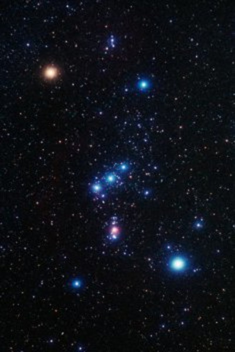 The stars of the Constellation of Orion