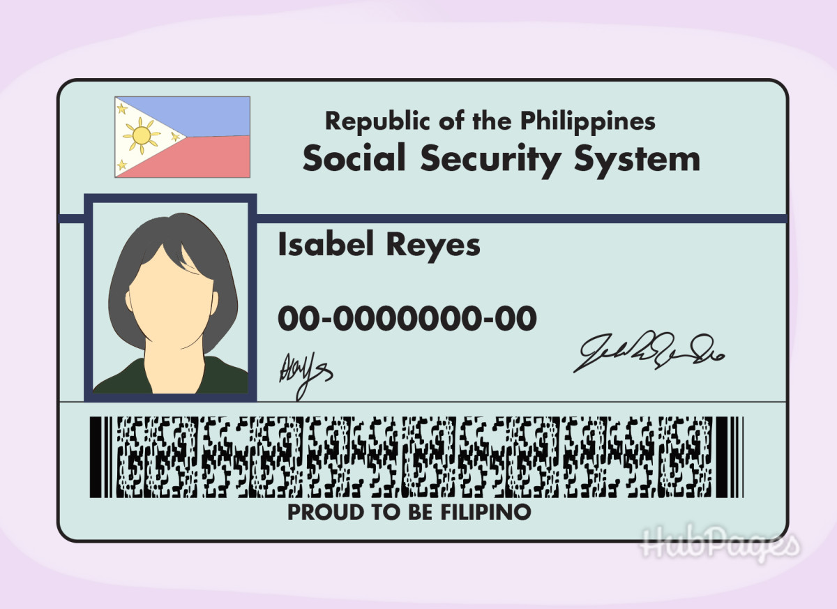 An example of a Filipino Social Security System card.