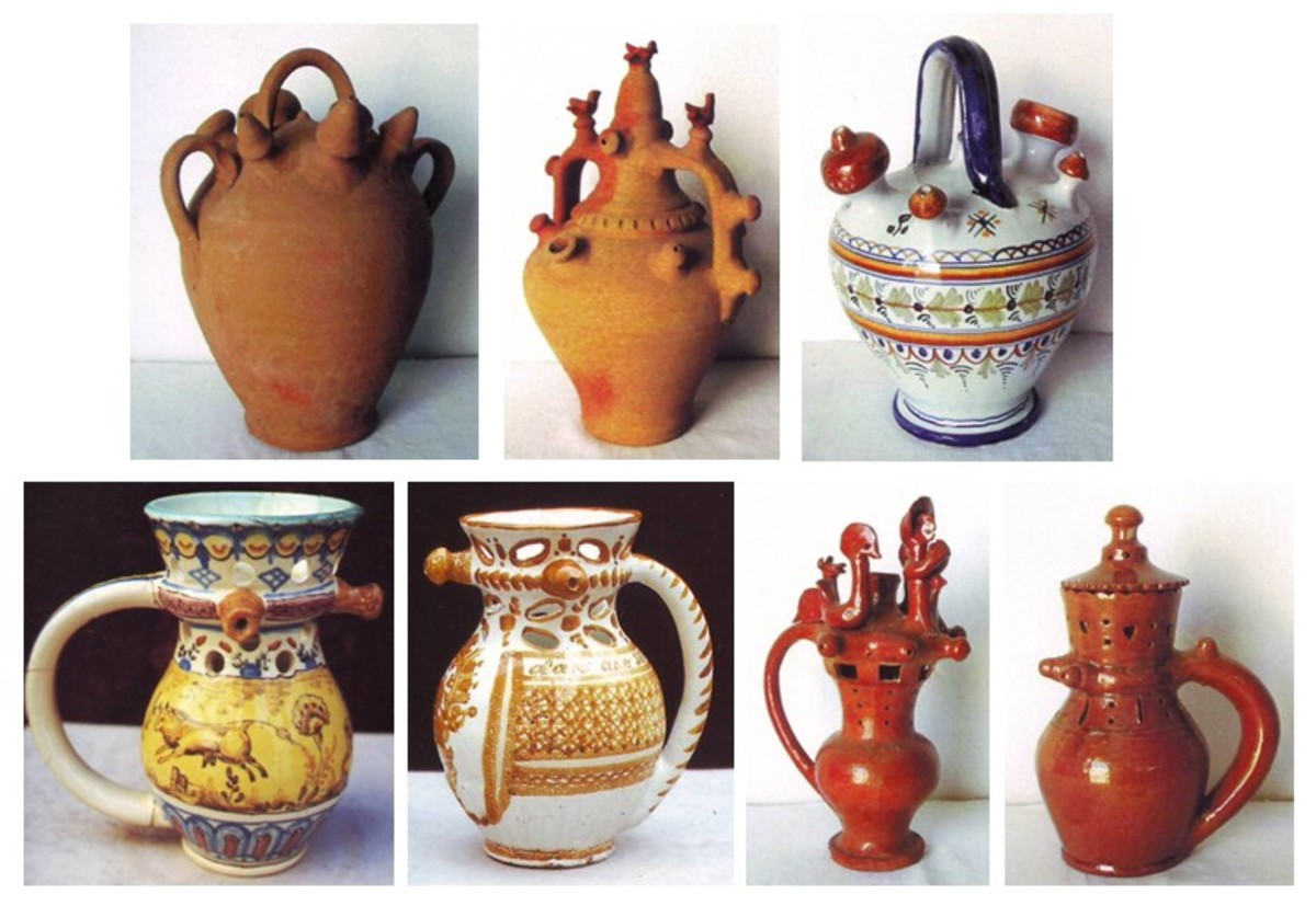 Ceramic ware and pottery from early Spanish styles