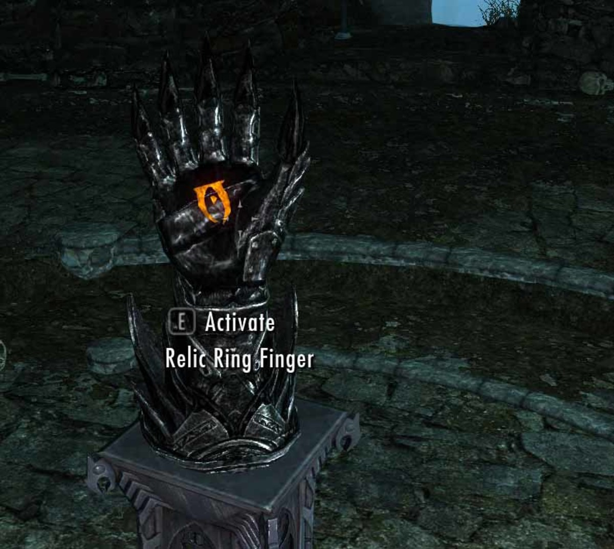 The Daedric Hand Puzzle in the Midden Dark.