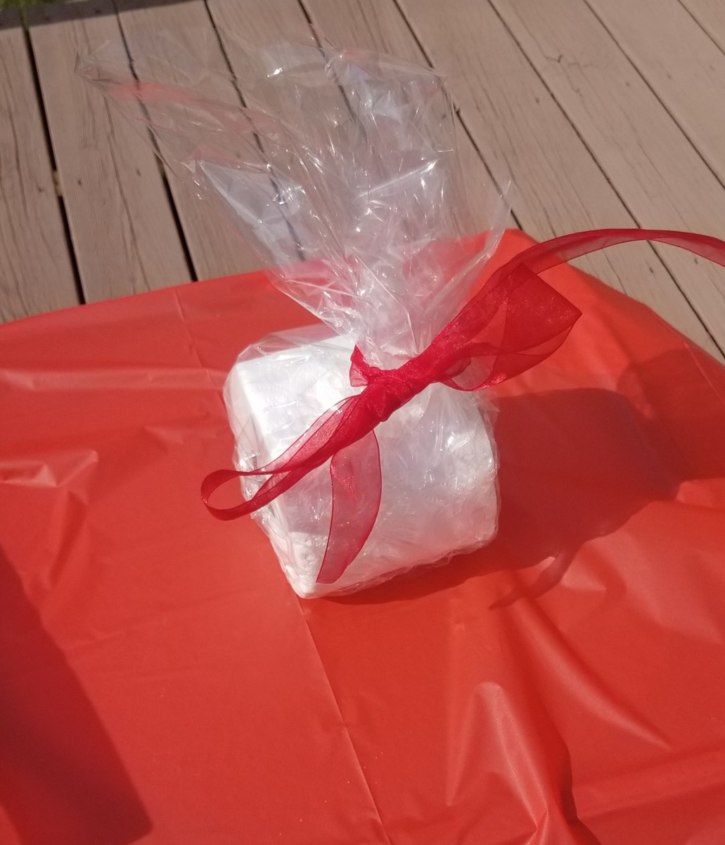 This toilet-paper prize is all wrapped up for the lucky winner.