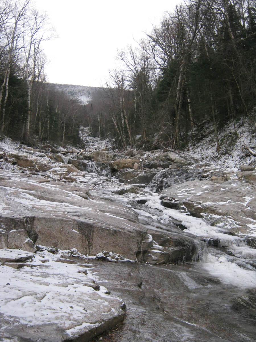 Climbing the New Snow Princess Cascade Slide in the Adirondack High Peaks