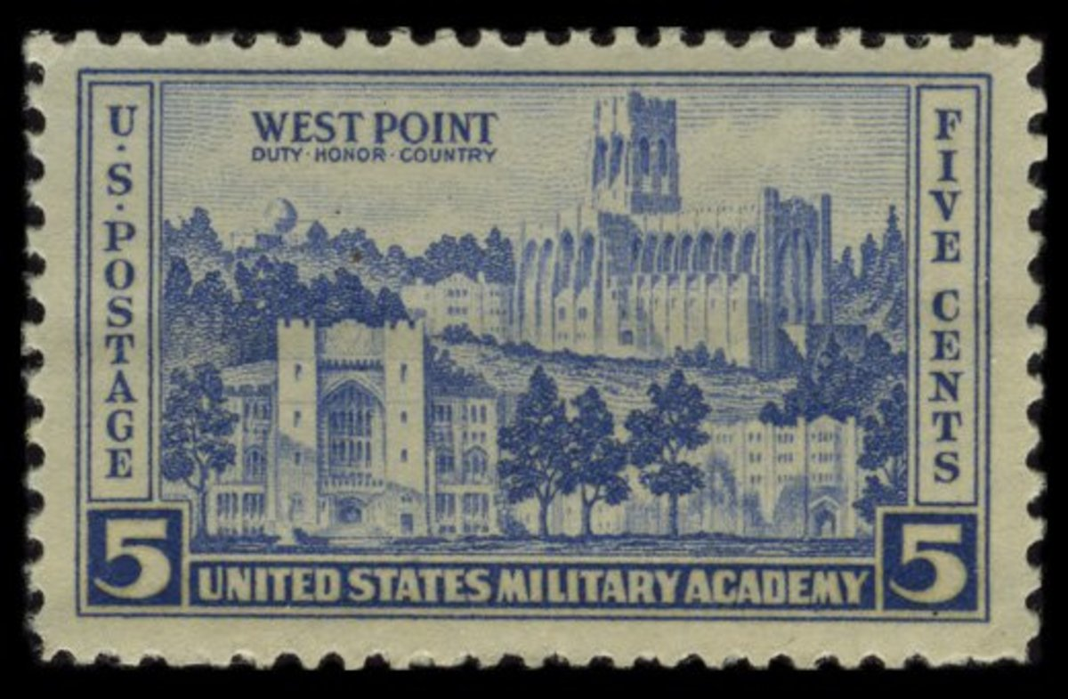 The five-cent Army stamp.
