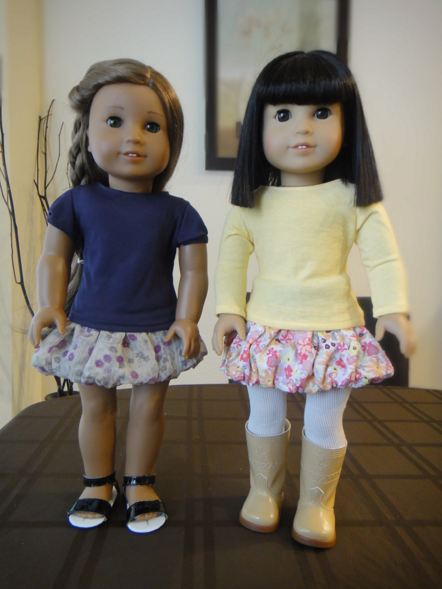 How to Sew a No Pattern Bubble Skirt for American Girl Dolls