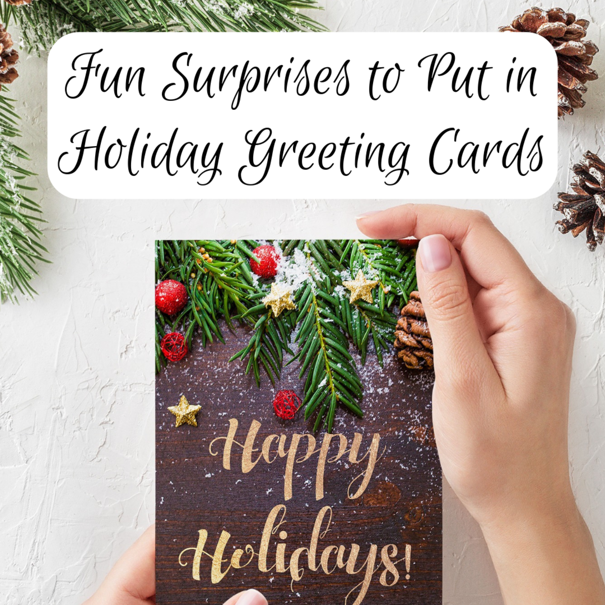 Put more than a message in your Christmas or holiday cards. Try one of these fun, unique card insert ideas.