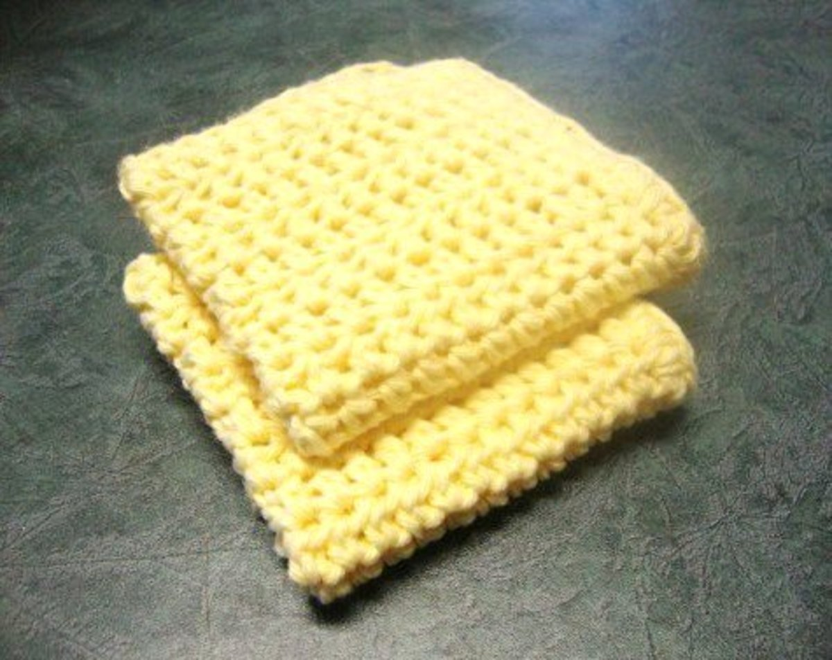 No-nonsense, practical crocheted dishcloths