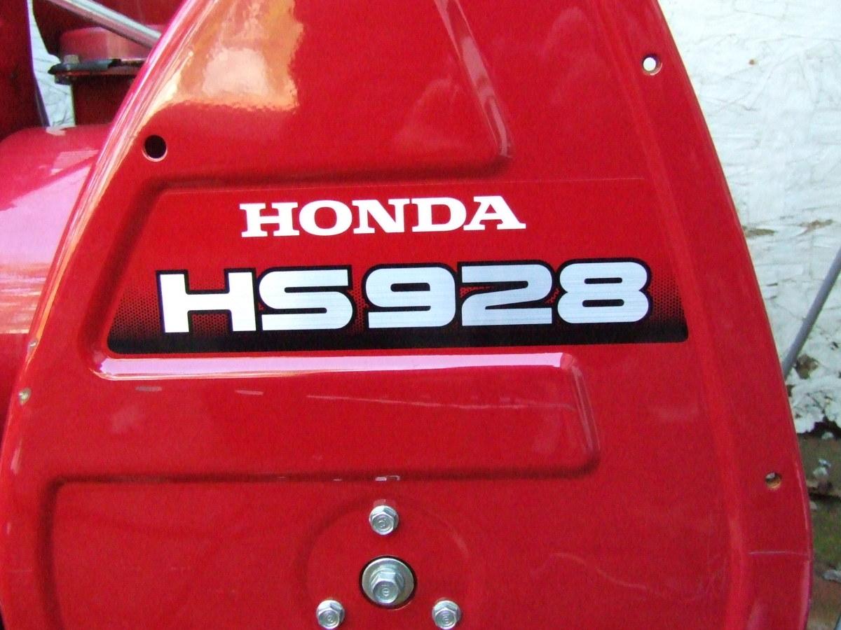 The Honda HS928 snow blower