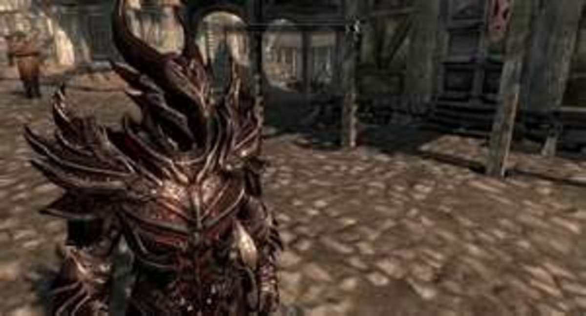 The oh-so-sinister Daedric Armor