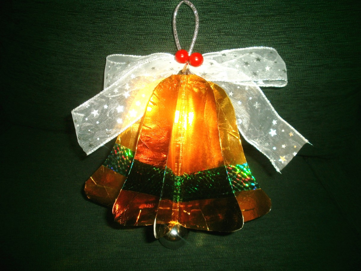 Christmas Bell Songs & How to Make a Bell-Shaped Ornament