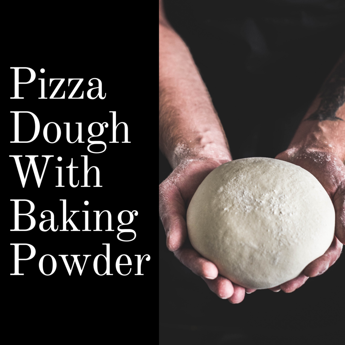 The next best option to yeast-based pizza dough is pizza dough with baking powder.