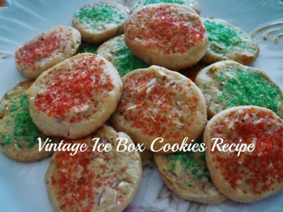 Decorated homemade ice box cookies