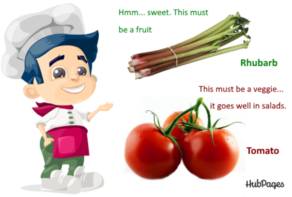 Is a tomato a fruit or a vegetable? In the culinary sense, the Rhubarb is a fruit, but the tomato is a vegetable. Botanists can't take this anymore!