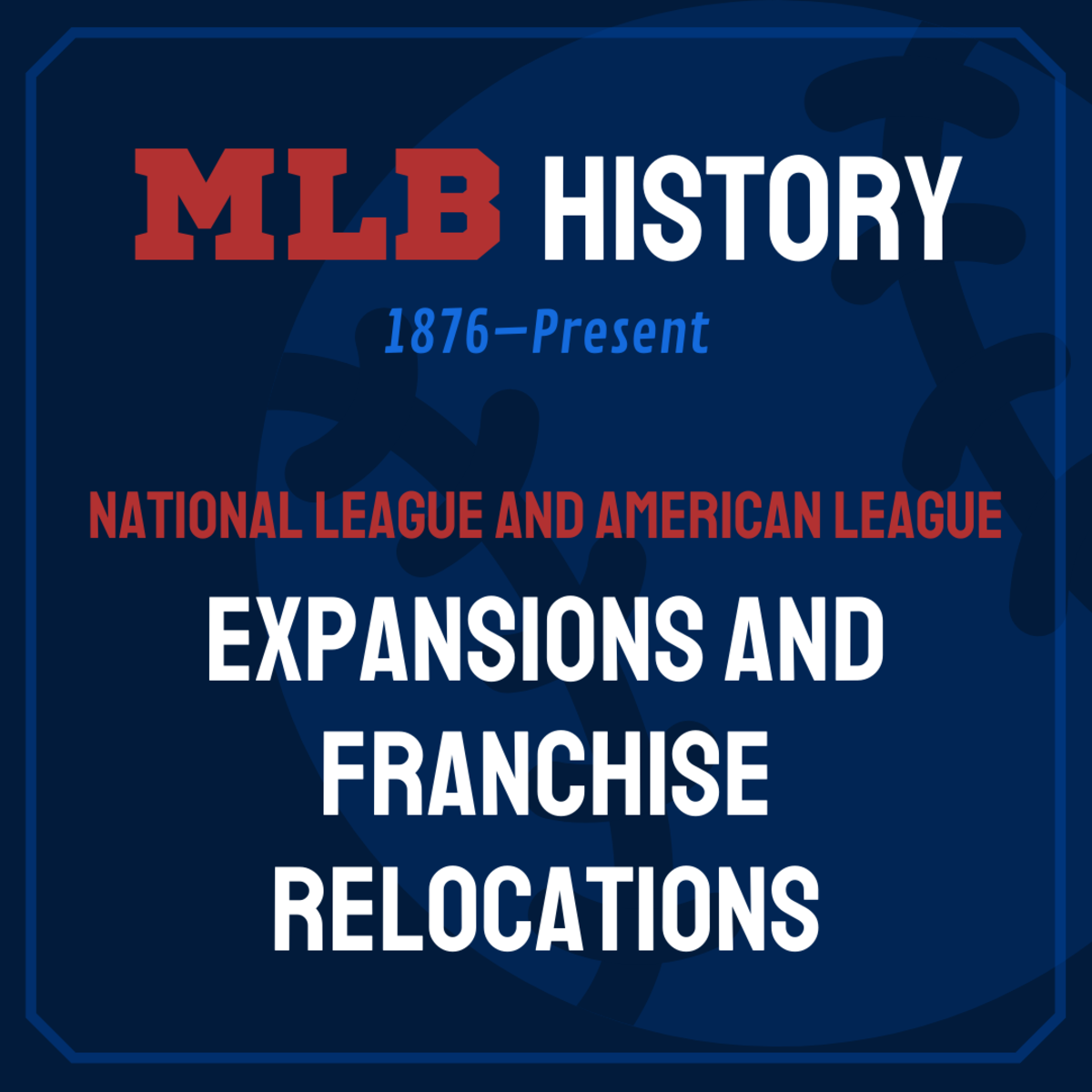 Review the history of Major League Baseball from pre-1900 to today, with a focus on when new teams joined the league and when franchises moved to new cities.