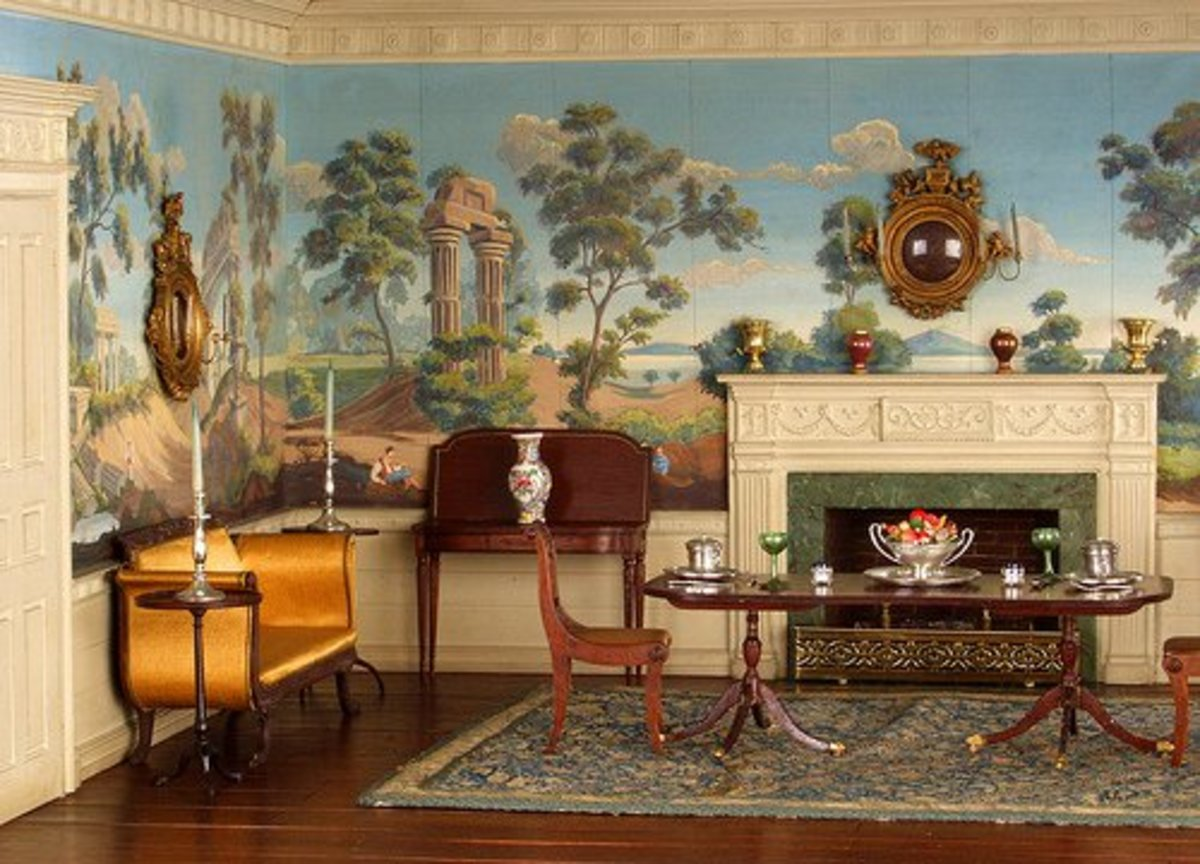 Post colonial art american federal period design and - Federal style interior decorating ...