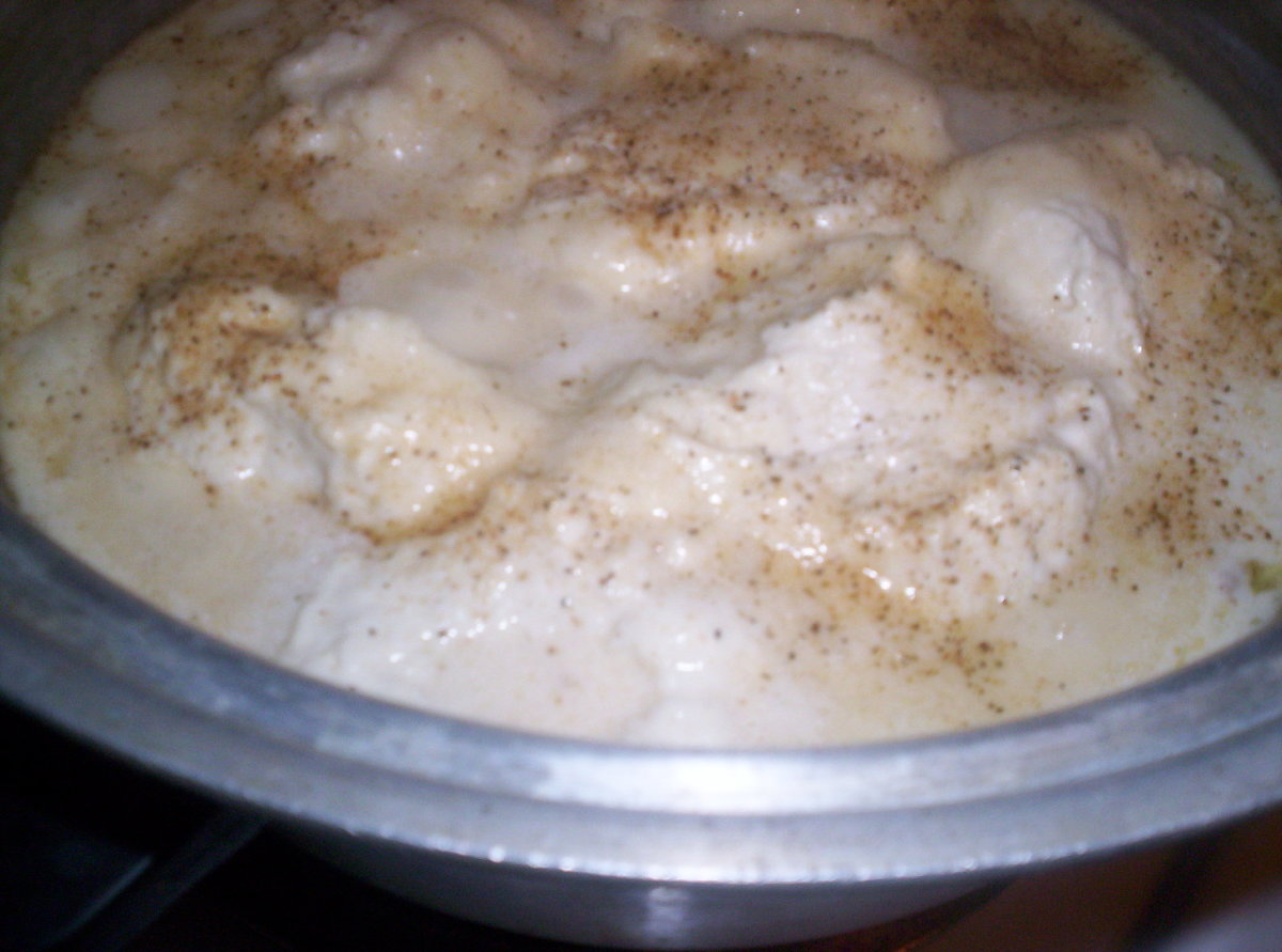 How To Make Chicken and Dumplings With  Bisquick And Sour Cream:   Instructions and Photos