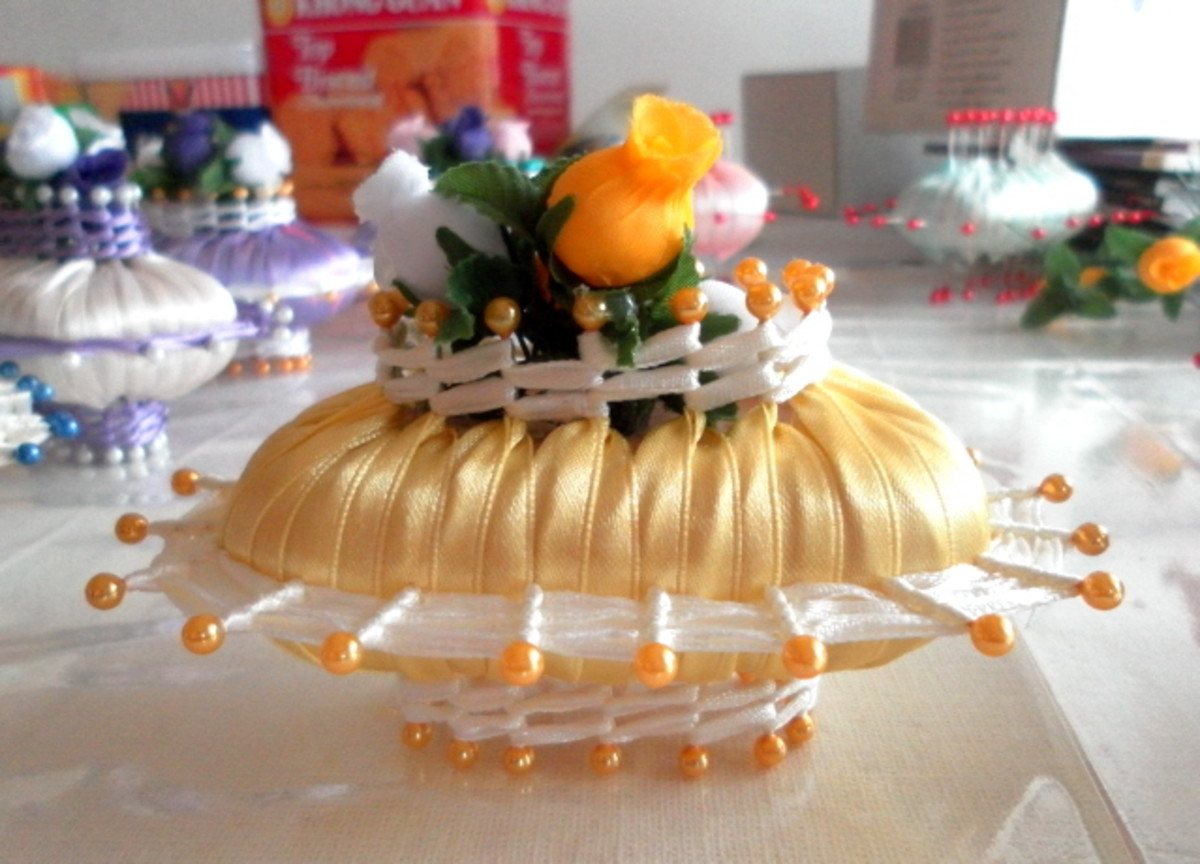 Country Style Soap And Ribbon Decoration Handicraft From The Past