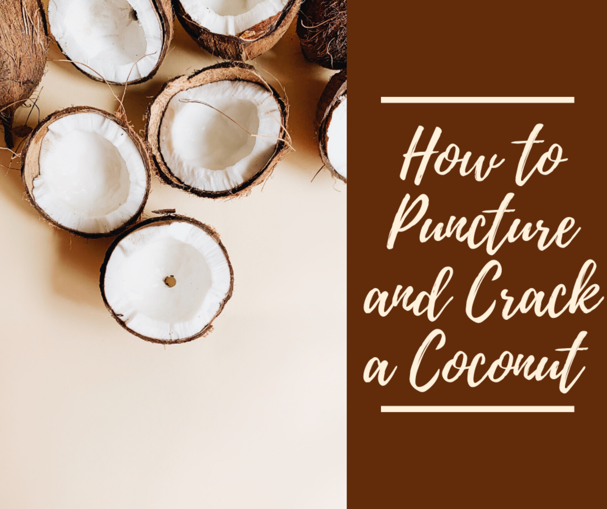 A coconut with its super hard outer shell can be challenging to crack.