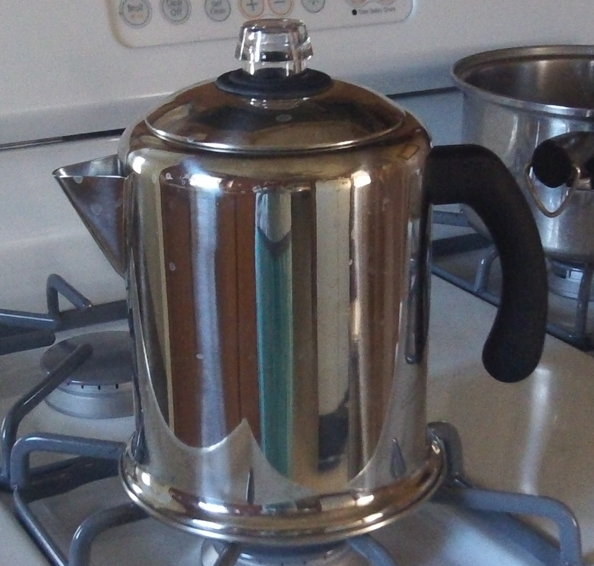 How to use a stove top coffee percolator.