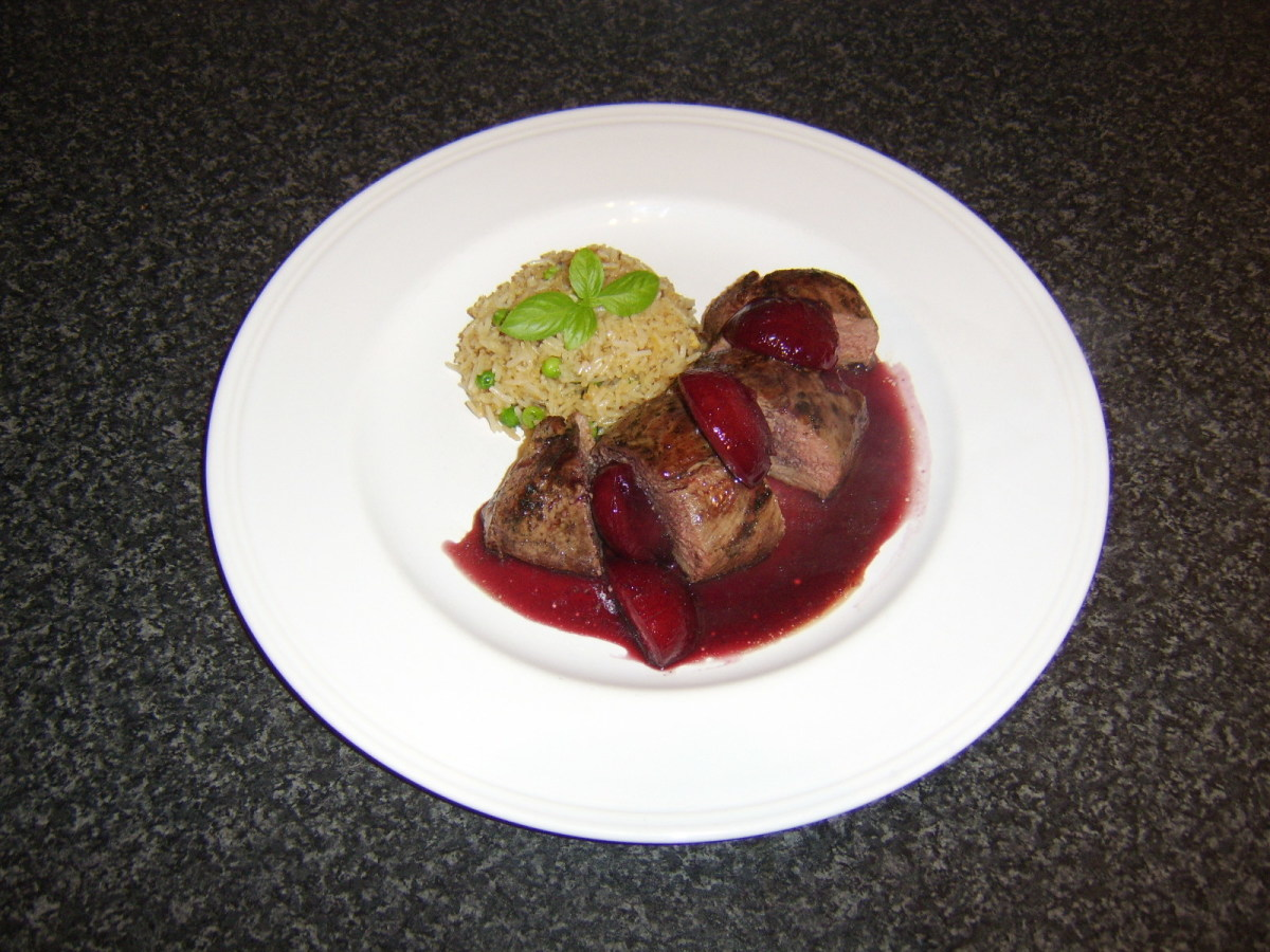 This roasted duck breast with plum, red wine, and ginger  sauce is just one of the recipes you will find in this article.