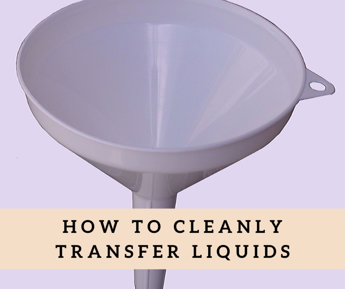 How to Cleanly Transfer Liquids From One Container to Another