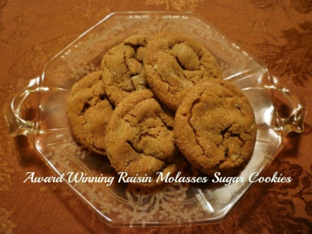 Raisin Molasses Sugar Cookies ~ Family Recipe with Photos and Instructions