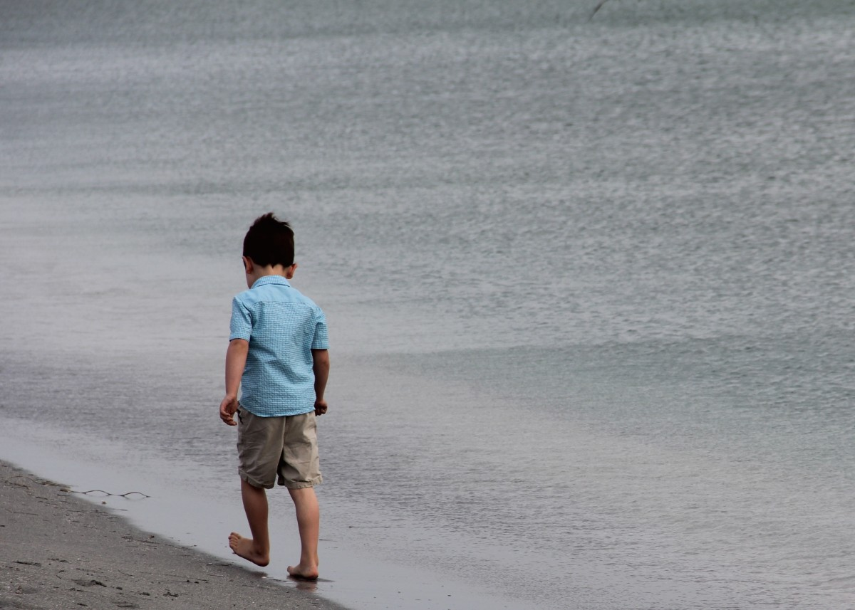 This is my younger son, probably walking away from me while I'm yelling at him to come back.