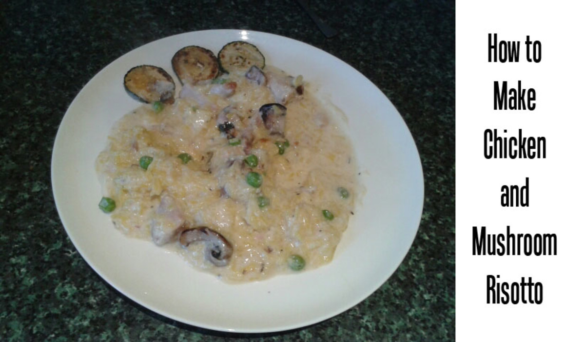 How to Make Chicken and Mushroom Risotto Using Leftover Chicken or Turkey After a Roast Dinner