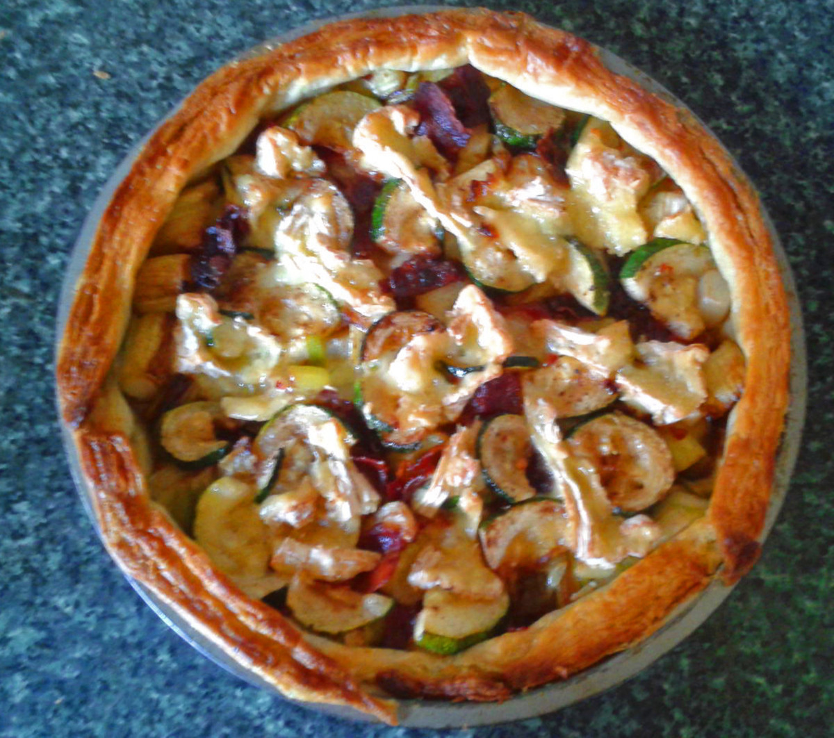 Quick and Easy Tart With Camembert, Leek, and Pancetta (Italian Bacon)