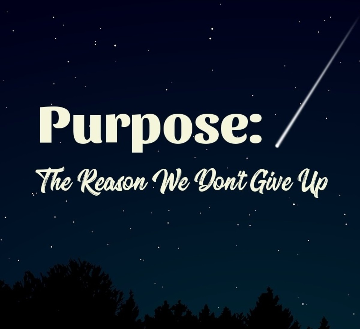 Purpose: The Reason We Don't Give Up