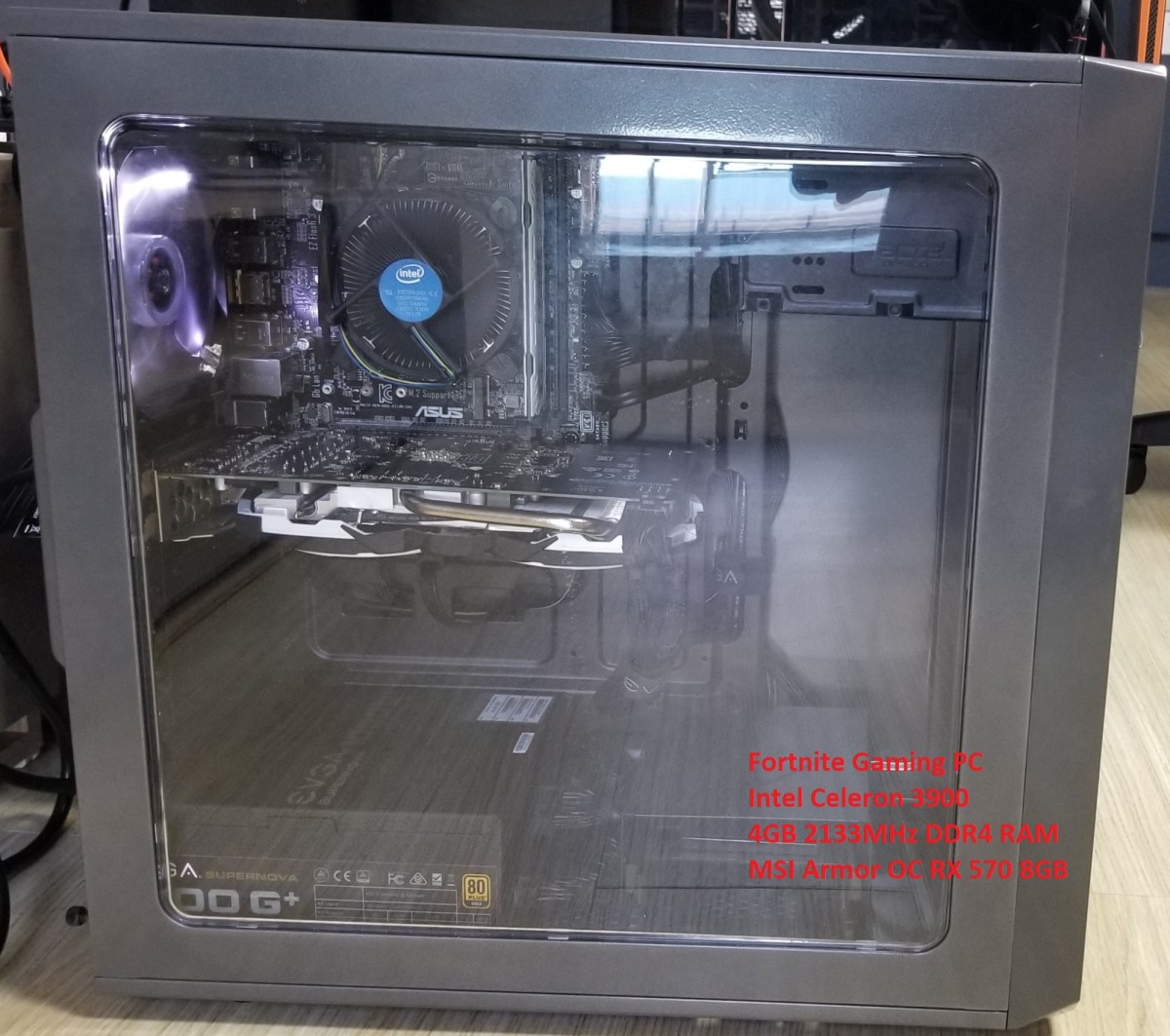 Repurposed Crytocurrency Mining Rig for Fortnite Gaming