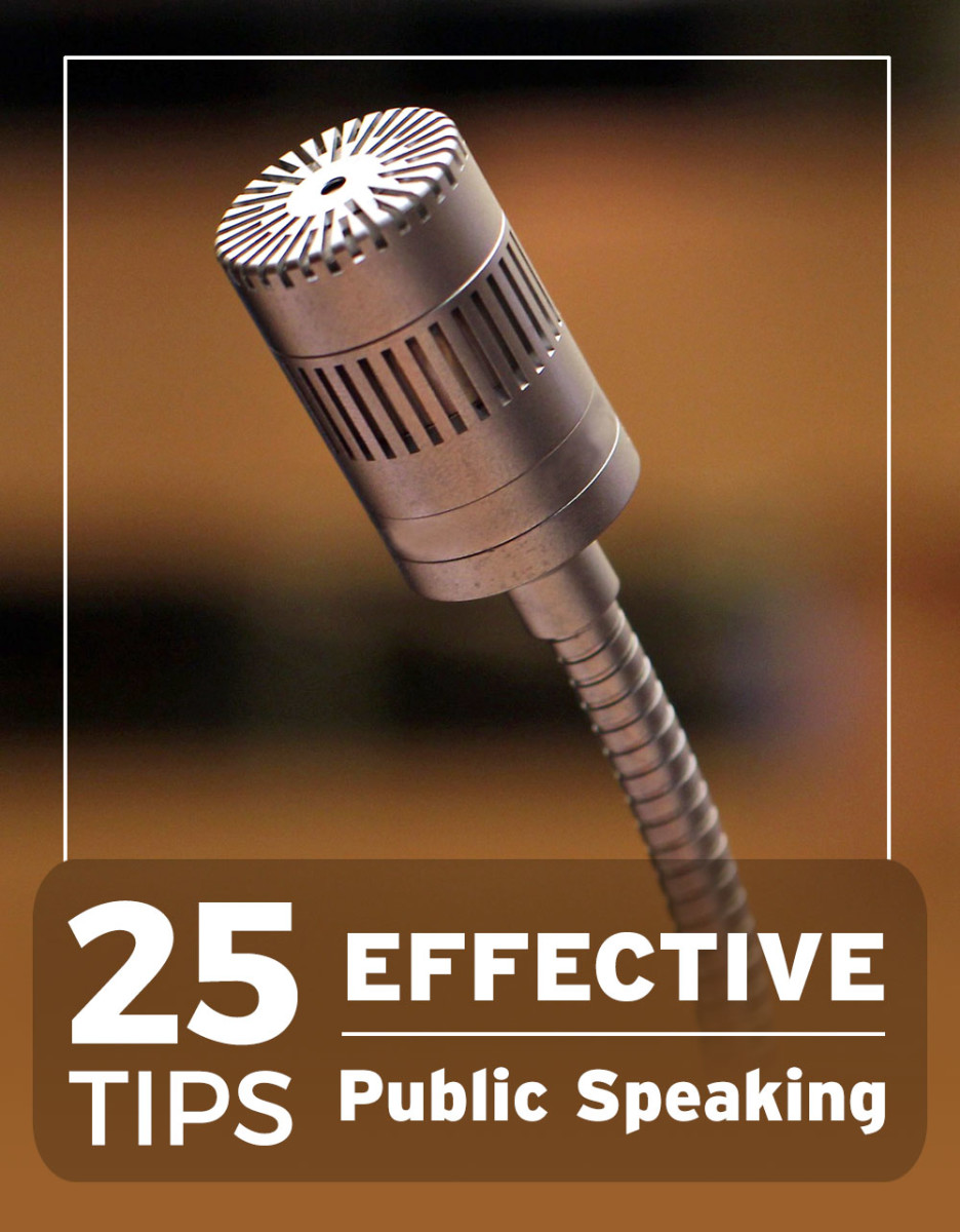 25 powerful tips for successful and effective public speaking.
