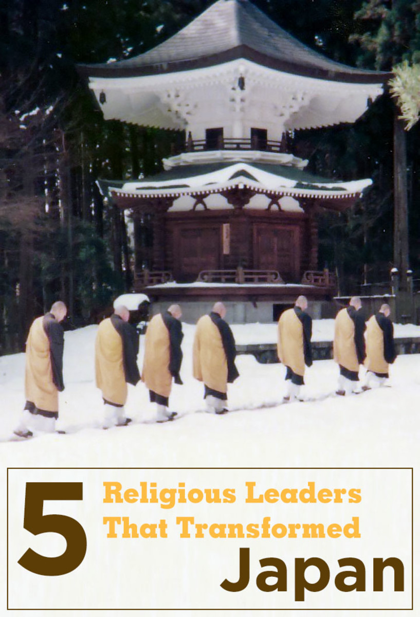Five Japanese religious leaders who shaped the current spiritual landscape of Japan with their thoughts and beliefs.